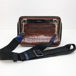 3.1 Phillip Lim Brown Ray Triangle Crossbody Bag
